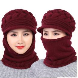 Women's Winter Hat Plus Velvet Thickening Warm Windproof Cycling Hat