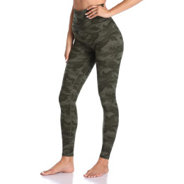 Camo Printed High Waist Legging Yoga Pant Without Pockets Workout Ultra-Stretch Sweatpants Woman Fitness Legging