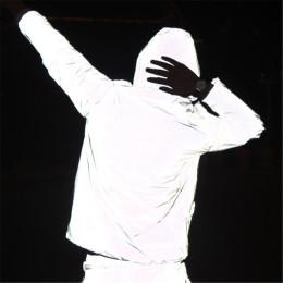 Reflective jacket with hood and zipper, unisex
