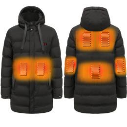 Men's winter 5v electric heating Hooded Jacket