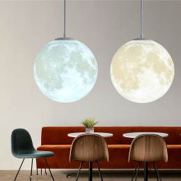 Creative Moon 3D Design Night Light Lamp Novelty Restaurant / Bar Pendant Lighting