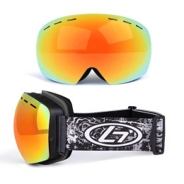 Ski goggles in frameless design with mirror glass. Gives you a wider field of view on the ski slope.