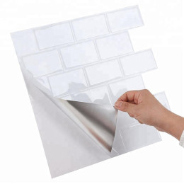 Size 12*12 inch Self adhesive Waterproof Heatproof Vinyl Wallpaper 3D Peel   and Stick Mosaic Tiles - 1 Sheet