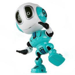 Intelligent robot Q version toy touch music light can record children's educational gift
