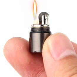 Mini Compact Capsule Kerosene Lighter Key Chain