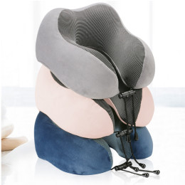 U-Shape Magnetic Headrest Neck Pillow Memory Foam Filler With Eyemask Cervical Pillow