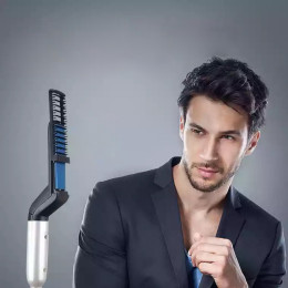 Men Electric Heating Hairbrush Comb Quick Hair Make