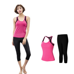 Sleeveless yoga workout clothes running suit