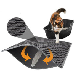 Waterproof Pet Cat Litter Mat EVA Double Layer Cat Litter Trapping Pets Mat