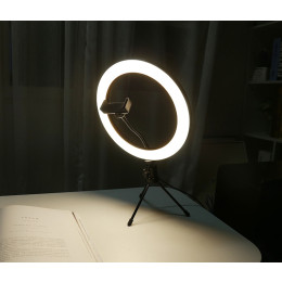 Ring light LED knob type stepless dimming beauty fill light