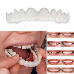 Upper False Fake Tooth Cover Snap On Veneers