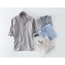 Casual cotton Buttons T Shirt