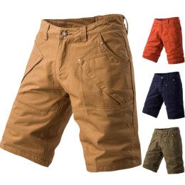 Men's cotton  pocket tooling casual shorts