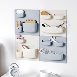 Home Storage Wall Suction Cup Plastic Storage Rack