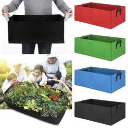 Garden planting bag with handle felt square planting container indoor garden flowerpot plants vegetables and fruits