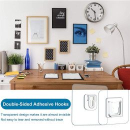 Double sided adhesive wall hook
