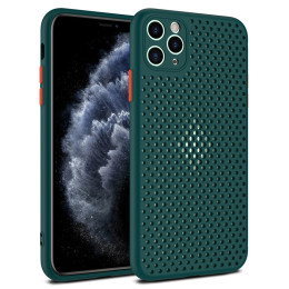 Hollow Out Grid For iPhone 12 11 Pro Max TPU Soft Heat Dissipation Breathable For iPhone XR Xs Max 6 6S 7 8 Plus Case