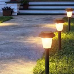 2 pcs led solar waterproof garden light, community garden ground plug light, outdoor solar lawn light