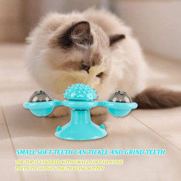 Spinning windmill cat toy