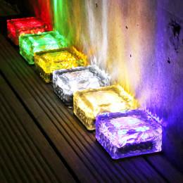 Solar outdoor courtyard ice cube light