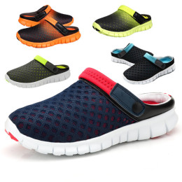 Mesh shoes sandals trend hole beach shoes hollow shoes two wear