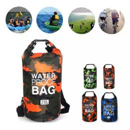 PVC waterproof dry bag camouflage outdoor diving men and women beach swimming bag