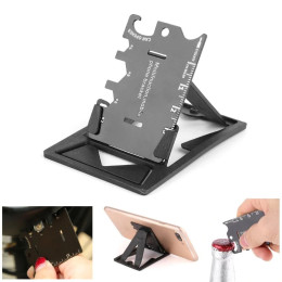 Folding Mobile Phone Bracket Mini EDC Tool Card