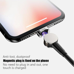 USB Magnetic Cable Rotation Fast Charging & Data Transfer Cable