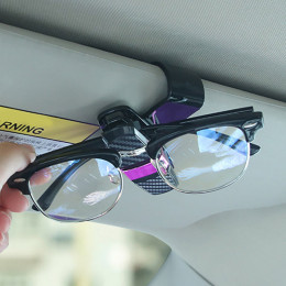 Car Glasses Clips Carbon Fiber Card Pen Holder
