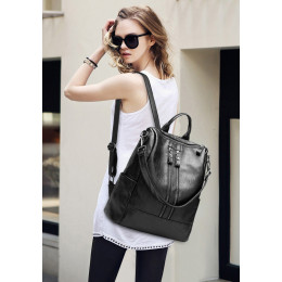 Fashion leather handbags travel large capacity backpack