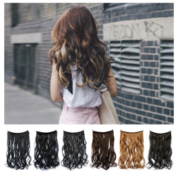 "18"" Multi Color Fish Line Hair No Clips Hair Extension"