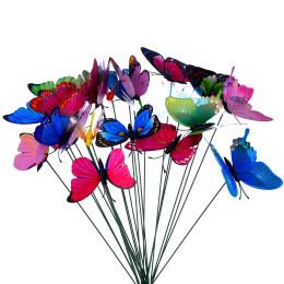 2 or 4 pack plug butterfly gardening flower arrangement forest decoration