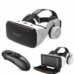 VR Virtual Reality 3D Glasses Box Stereo VR Google Cardboard Headset Helmet