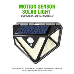 166LED Solar Wall Light