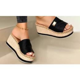 Women's Open Toe Platform Wedge Sandals