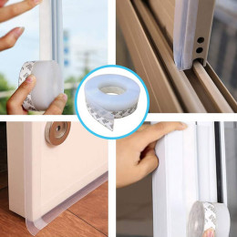 Windproof stickers for sealing doors and windows