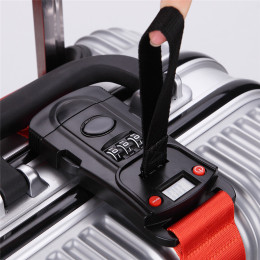 Travel Luggage Scale Code Lock Suitcase Strap Belt