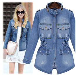 Casual jeans jacket for women