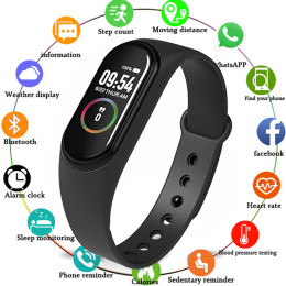 M4 Smart Band Wristband Heart rateBloodPressureHeart Rate MonitorPedometer Sports Bracelet