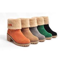Women's Winter Square Ankle Boots