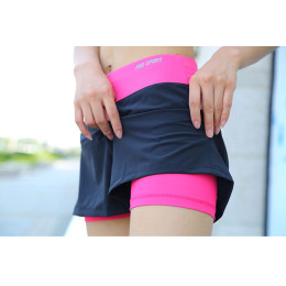 Women Quick Drying Yoga Double Layer Sports Yoga Running Shorts