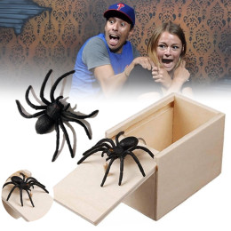 Spider Surprise Box   Kids Adult Toy Tricky Toy Scared Wooden Box