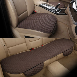 Car Seat Cover  Front Rear Flax Cushion Breathable Protector Mat