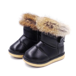 Baby boots shoes winter warm PU leather baby snow boots