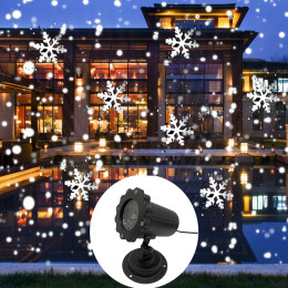 Outdoor Snowfall Snowflake remote control Projector Light