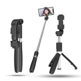 L01 Tripod Selfie Stick Mobile Phone Universal Live Triangle Support One Bluetooth Self-timer Integrated Wireless Artifact