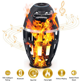 Flame light wireless bluetooth speaker