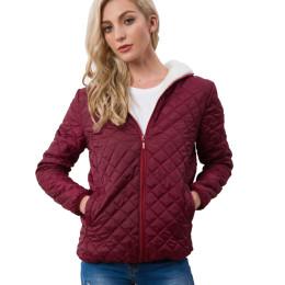 Women's Long Sleeve Hooded Fleece Basic Jacket Casual Outerwear