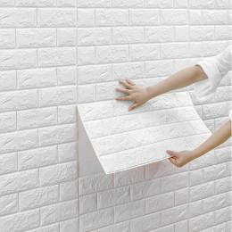 2pcs Foam brick pattern 3D stereo wall sticker