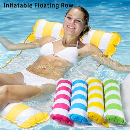 Foldable inflatable water deck chair
